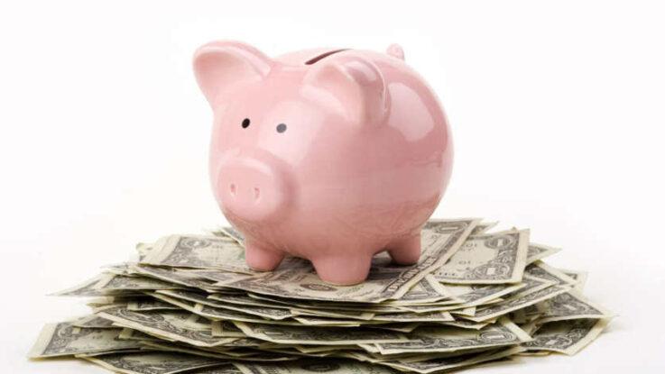 cochon porcelaine et billets