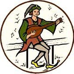 troubadour jouant du luth
