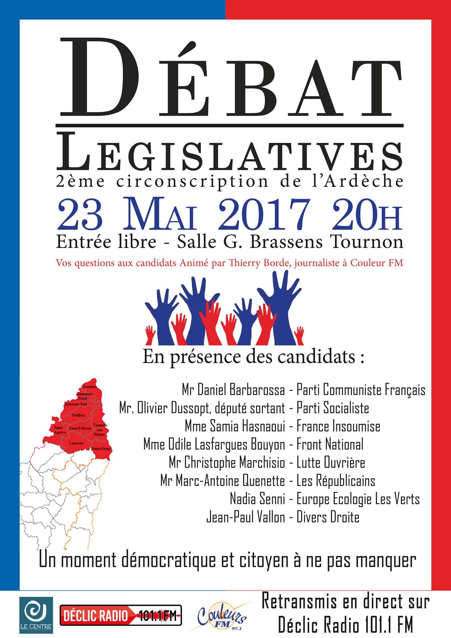 débat législatives 2017